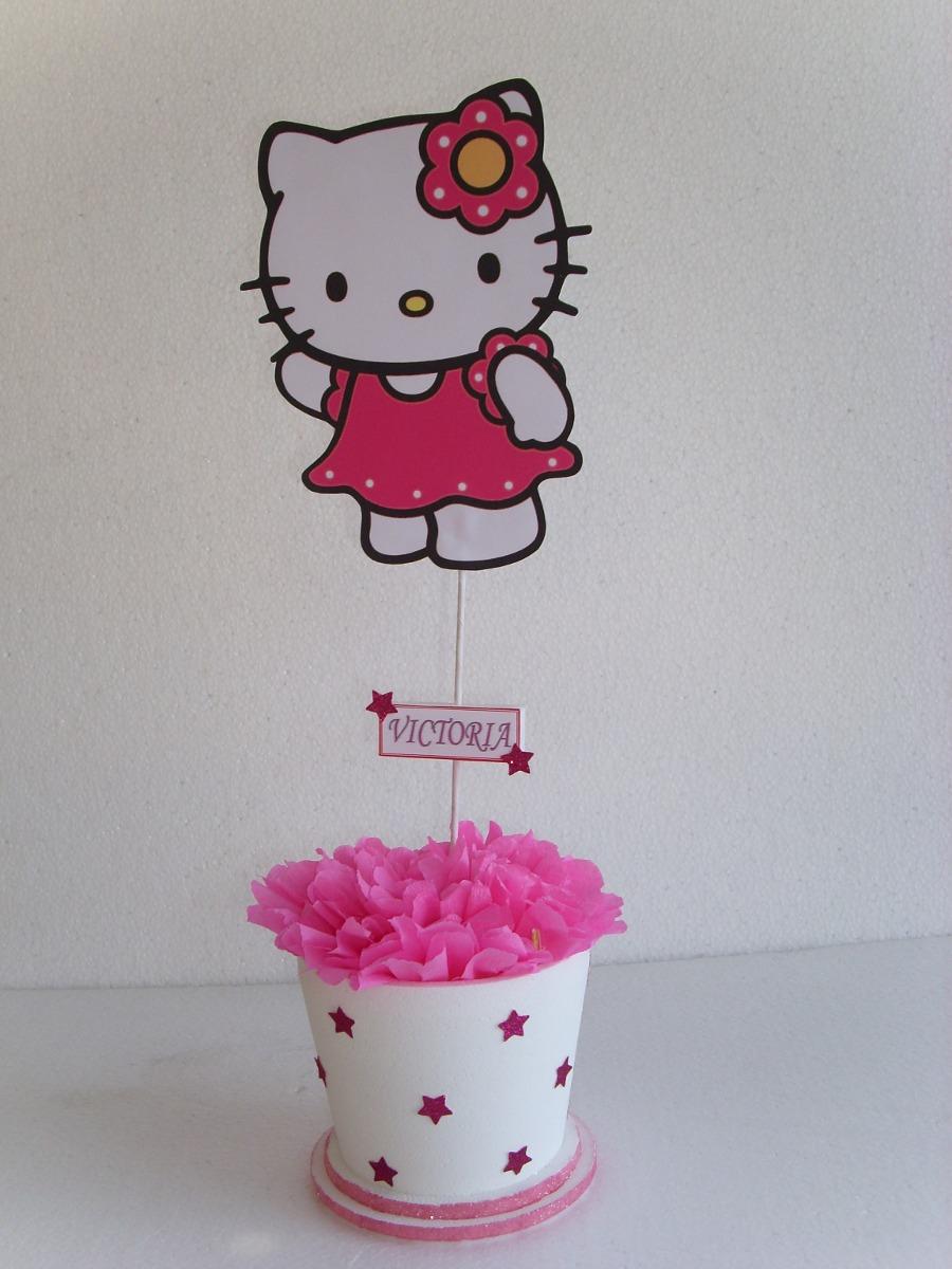 Centros De Mesa De Hello Kitty En Tarrito Colores A Elecion - $ 90 ...