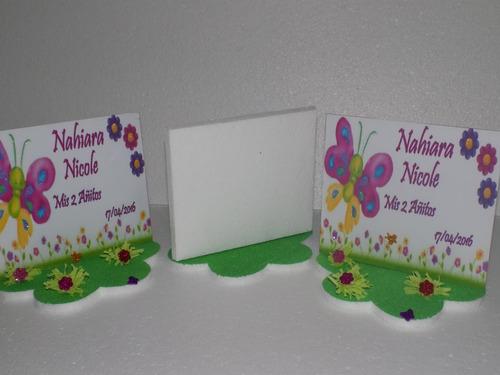 centros de mesa de mariposas tipo porta retrato de 20cm