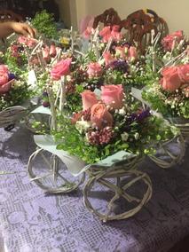 Centros De Mesa Diseño Vintage Arreglo Floral