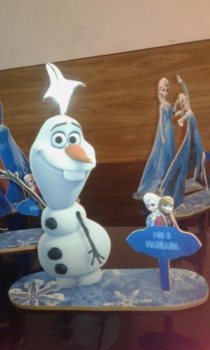 centros de mesa  disney frozen!!! fibrofacil