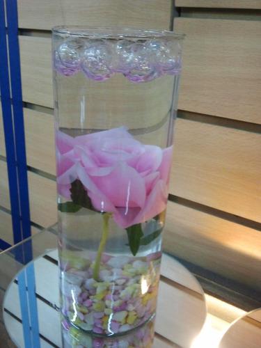centros de mesa florero vidrio 9x25 solo bautismo 15 años