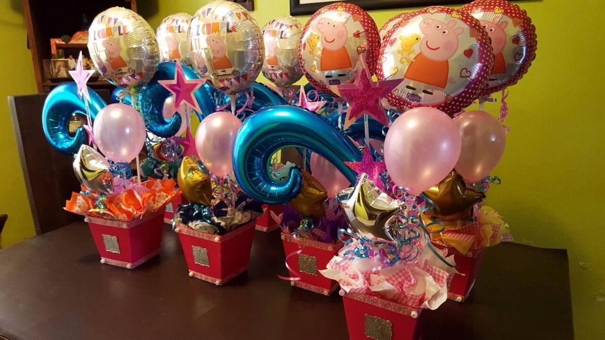 centros de mesa globos fiestas infantiles en