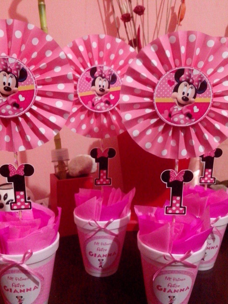 Centros De Mesa Infantil Minnie Rosa - $ 57,75 en Mercado Libre