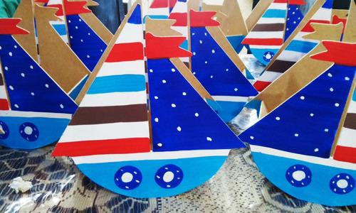 centros de mesa infantiles barcos veleros madera barcos mdf
