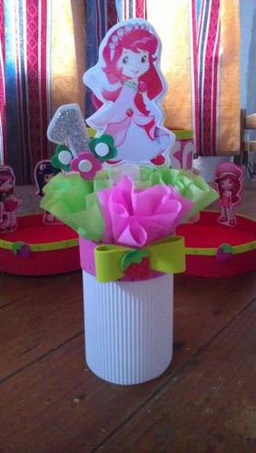 centros de mesa infantiles princesas frozen frutillitas lala