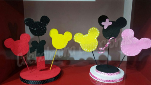 centros de mesa mickey minnie carteles letras decoradas