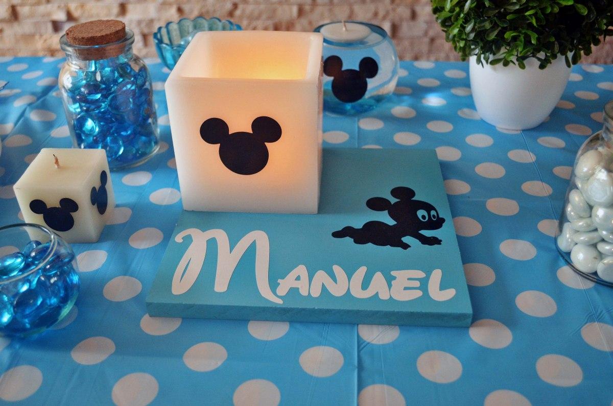 Centros de mesa mickey mouse bebe aluzza en for Adornos navidenos mercadolibre