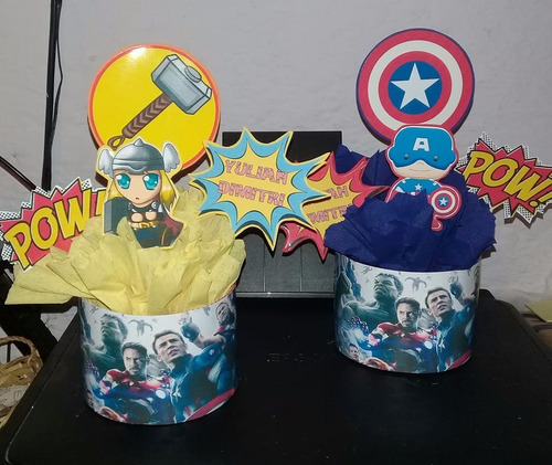 centros de mesa nacional avengers hulk minnie princesas