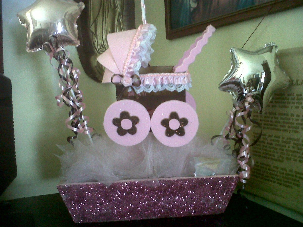 Centros de mesa para baby shower en mercado libre for Centro de mesa baby shower