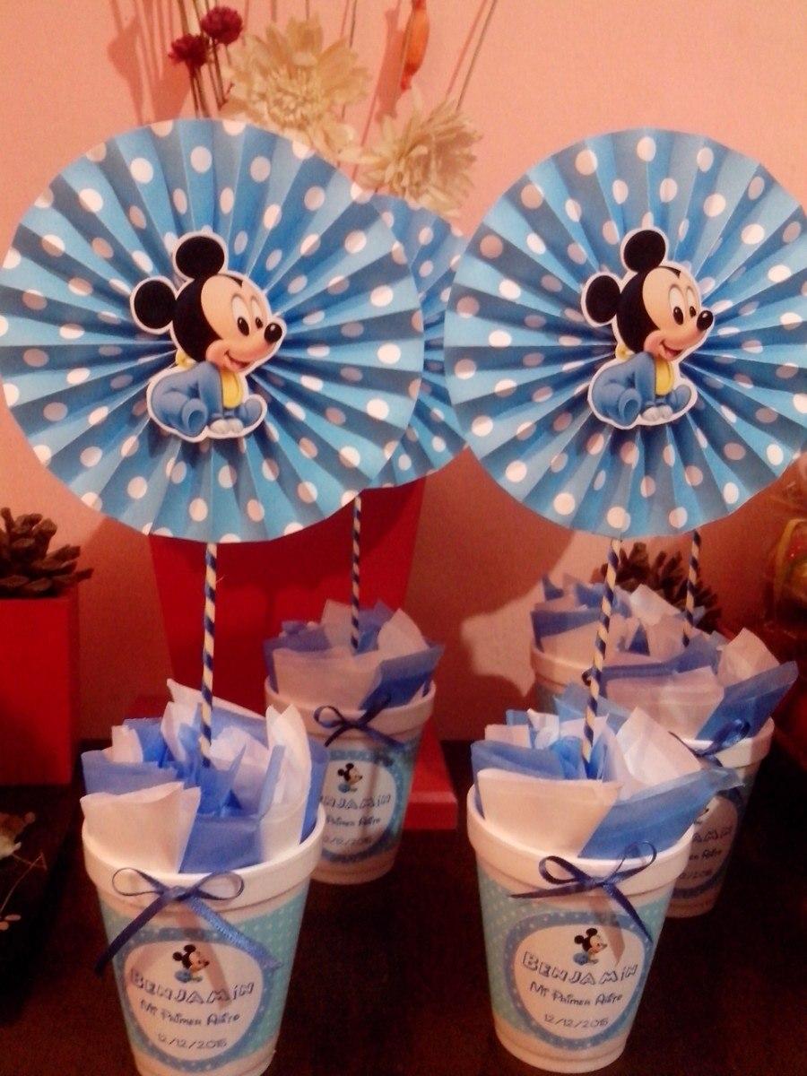 Centro De Mesa Para Primer Año Varon Mickey - Souvenirs para tu ...