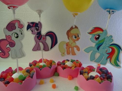 centros de mesa princesas minnie pony sofia peppa goma eva