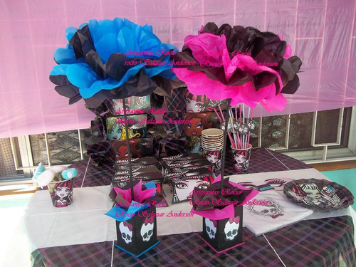 centros de mesa,souvenirs,monster high,cumpleaños infantiles