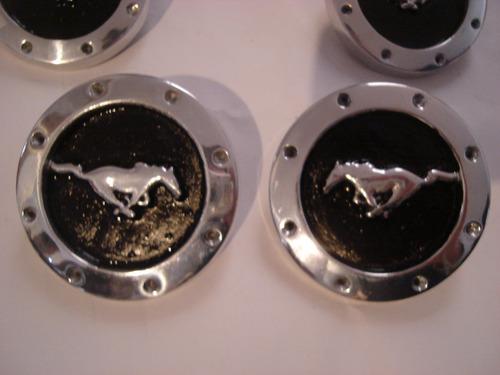 centros de rin metalico caballo solo mustang  4 piezas