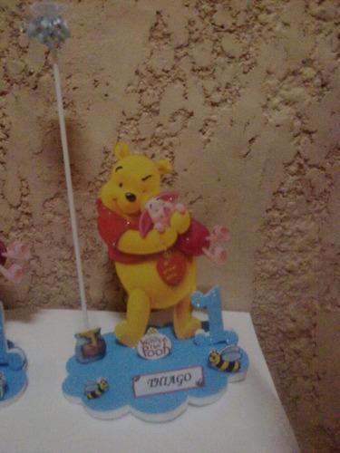 centros de winnie pooh con globo del color que elijas