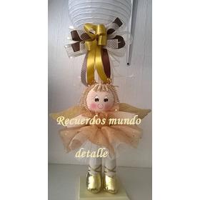 Centros Mesa Bautizo Baby Shower Recuerdo Angelitos Lampara