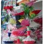 Lampara De Fibra Optica Multicolor Con Flores Solo Envios