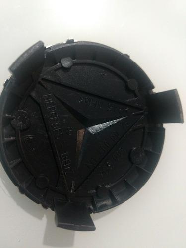 centros tapones rin  mercedes benz 75mm negro