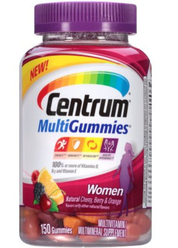 centrum multigummies mujer 150 gomitas