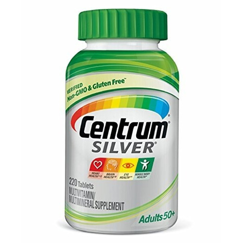 centrum® silver® adults 50+ 220 tablets e u a homem mulher !