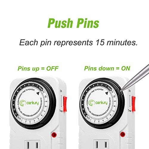 century 24 hour plug-in mechanical timer grounded