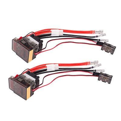 cepillado de 2pcs alto voltaje esc variador 7.2v-16v 320a pa