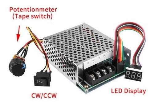cepillado de pwm dc10v-55v dc motor velocidad controlador cw