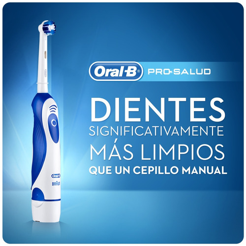 cepillo a pilas oral-b prosalud + 2 repuestos cross action
