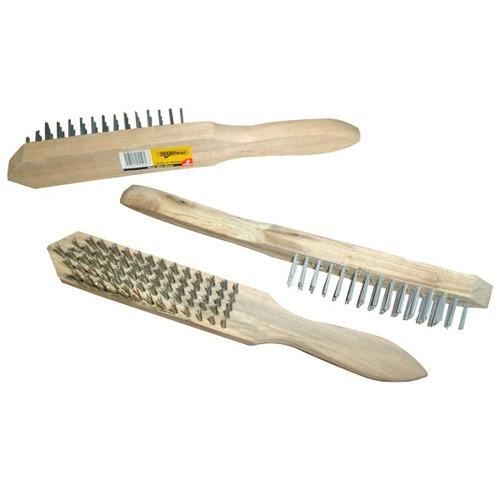 cepillo acero 6 hileras stanprof (u.e.:120) mango madera
