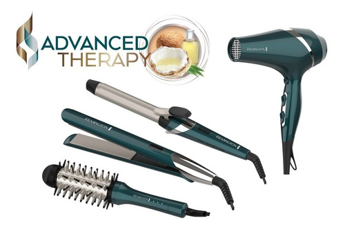 cepillo alisador cabello remington aceite coco 2en1 plancha