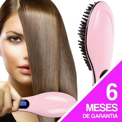 cepillo alisador de cabello eléctrico planchita anti frizz