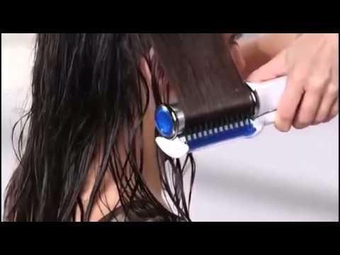 cepillo alisador de cabello rodillo giratorio seco o humedo