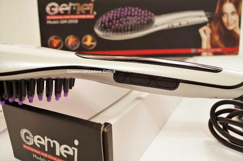 cepillo alisador digital gemei con tecnología hidratante 230