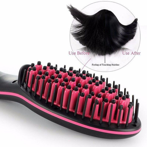 cepillo alisador eléctrico cabello lcd cerámico