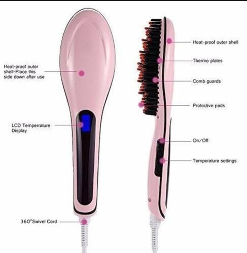 cepillo alisador eléctrico fast hair straightener