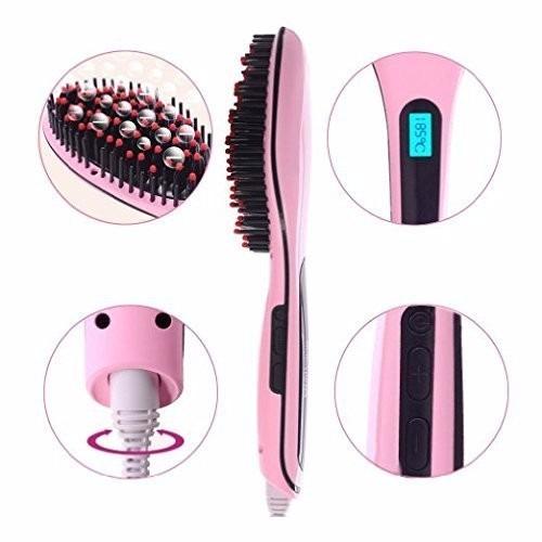 cepillo alisador para todo tipo de cabello fast hair