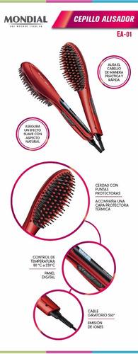 cepillo alisador pelo mondial magic brush ea1 cabello