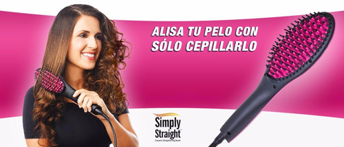 cepillo alisador simply straight tv plancha ceramica, 450º f