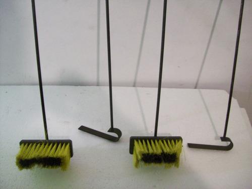 cepillo - atizador  para estufa parrillero precio por unidad