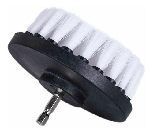 cepillo blanco suave para taladro lavado de muebles