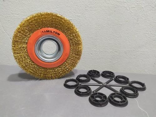 cepillo bronceado amoladora banco 150mm hamilton disco circu