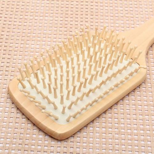 cepillo cabello peine madera peinar cabello