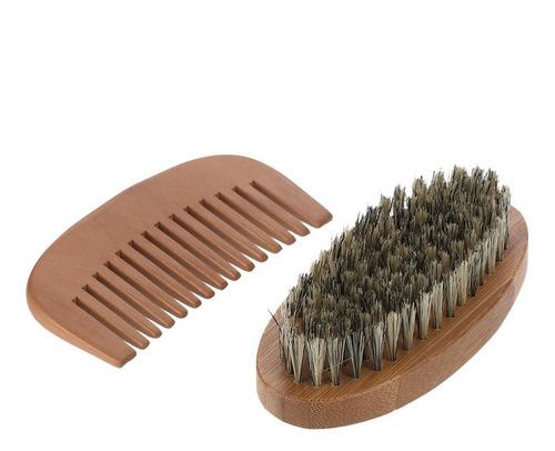 cepillo cerdas de jabalí set x3 bambu barba cepillo peine bo