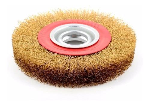 cepillo circular 5  amoladora banco acero bronceado bremen®