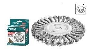 cepillo circular total 5'' x 7/8 de alambre trenzado p/esme