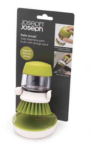 cepillo con dispenser jabon joseph joseph compacto cocina
