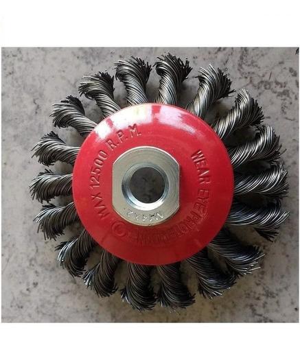 cepillo conico trenzado 4 amoladora 100 mm bremen® 3257
