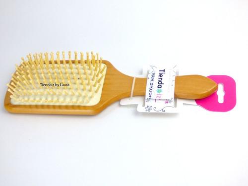 cepillo de bambu cabello ecologico con cerdas de bambu x 1
