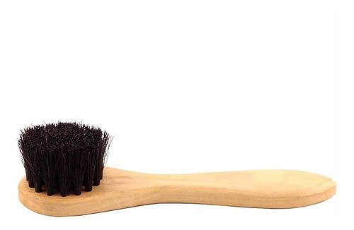 cepillo de cerdas mango para zapatos de cuero - acc07117