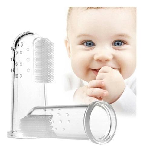 cepillo de dedo para dientes y encias + estuche para bebé