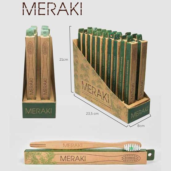 Cepillo De Dientes Biodegradable Bambú Adultos Meraki X 80u ... e770ebf701af